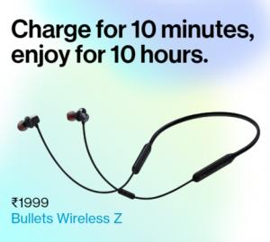 OnePlus Bullets Wireless Z – Flat ₹200 Off Code | @ Just ₹1699